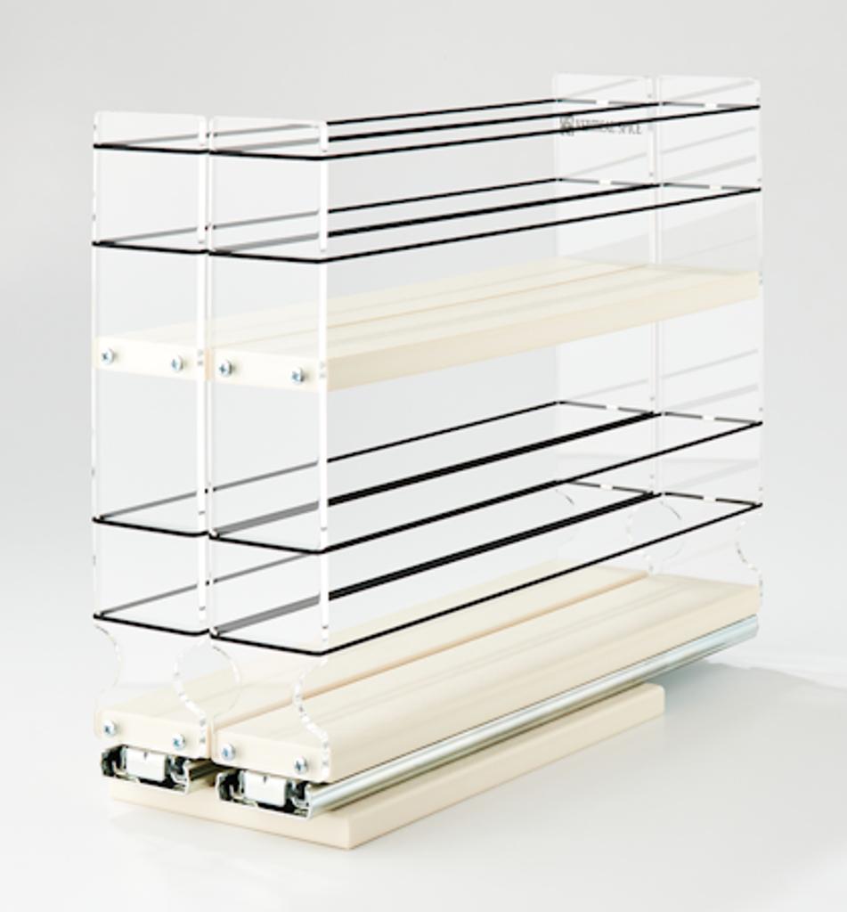 22x2x14 Vertical Spice Rack Drawer - Cream
