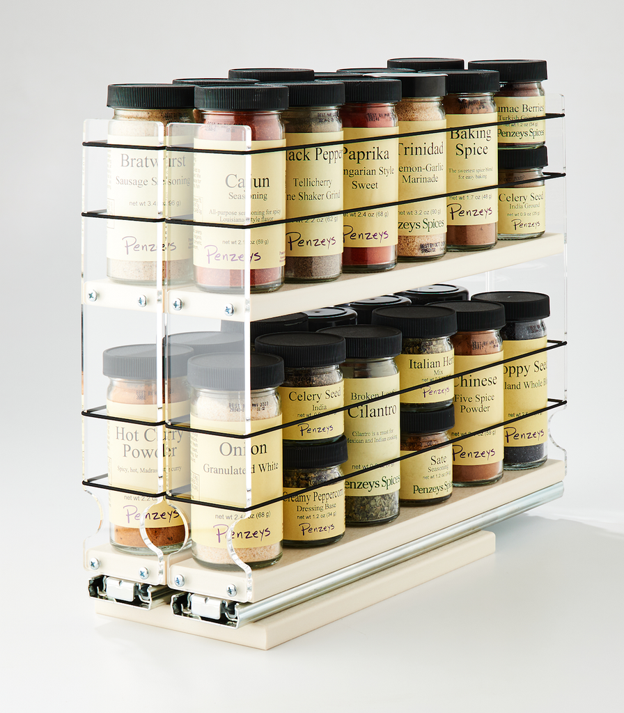 22x2x14 Spice Rack Drawer - Cream - Organize your wide variety of Spices