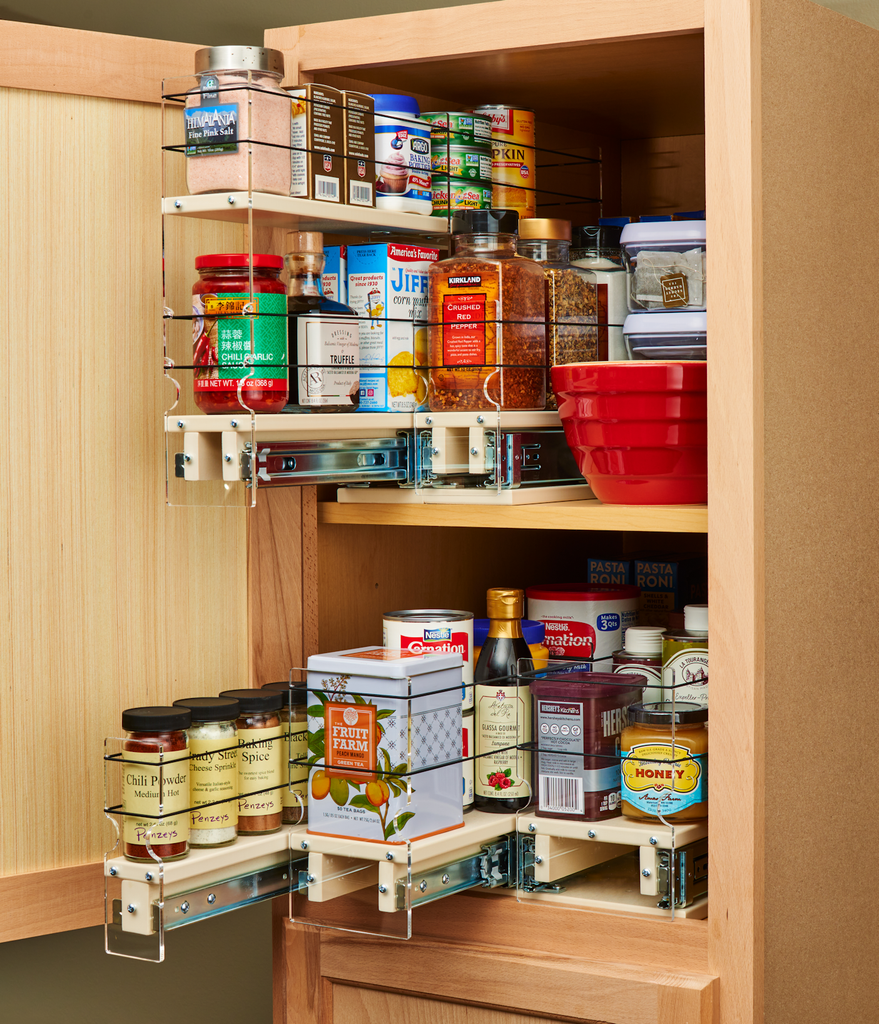 Multiple x22 Depth Units Help Organize and Access Entire Cabinet