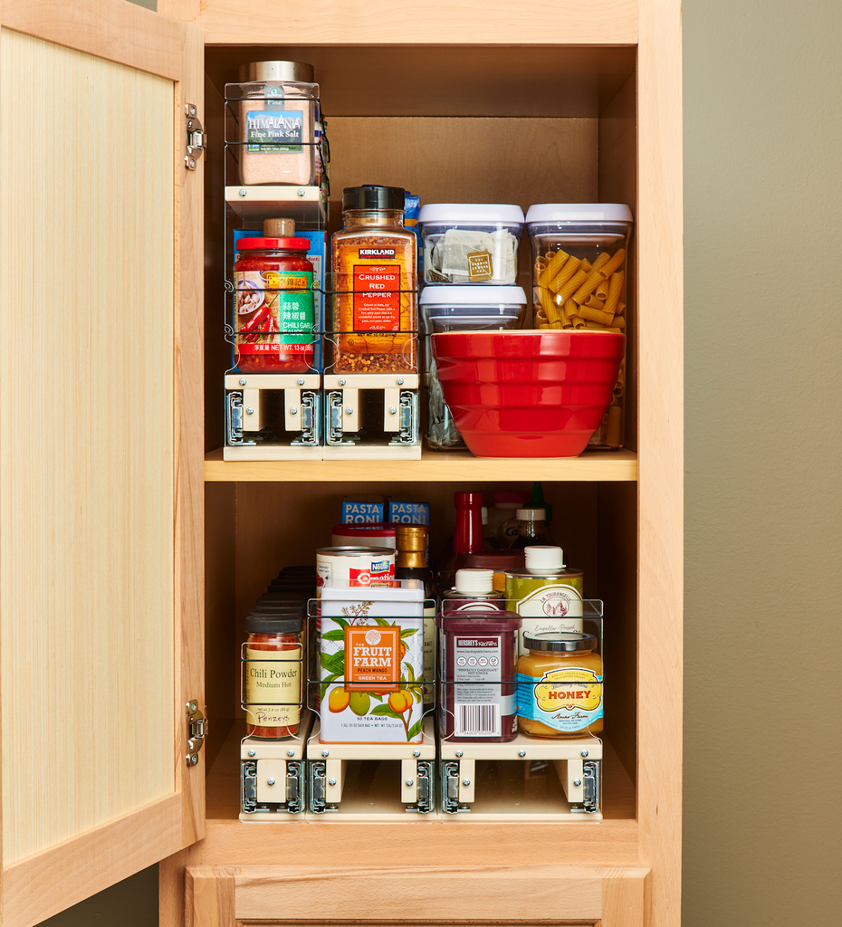 Multiple x22 Depth Units Organize and Access Cabinets