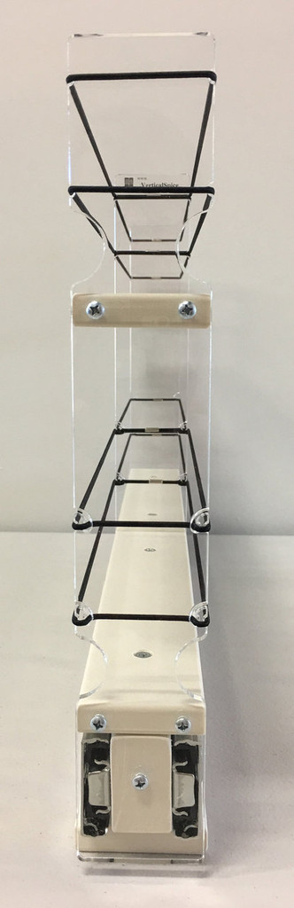 2x2x22 Spice Rack Drawer - Cream, Front view