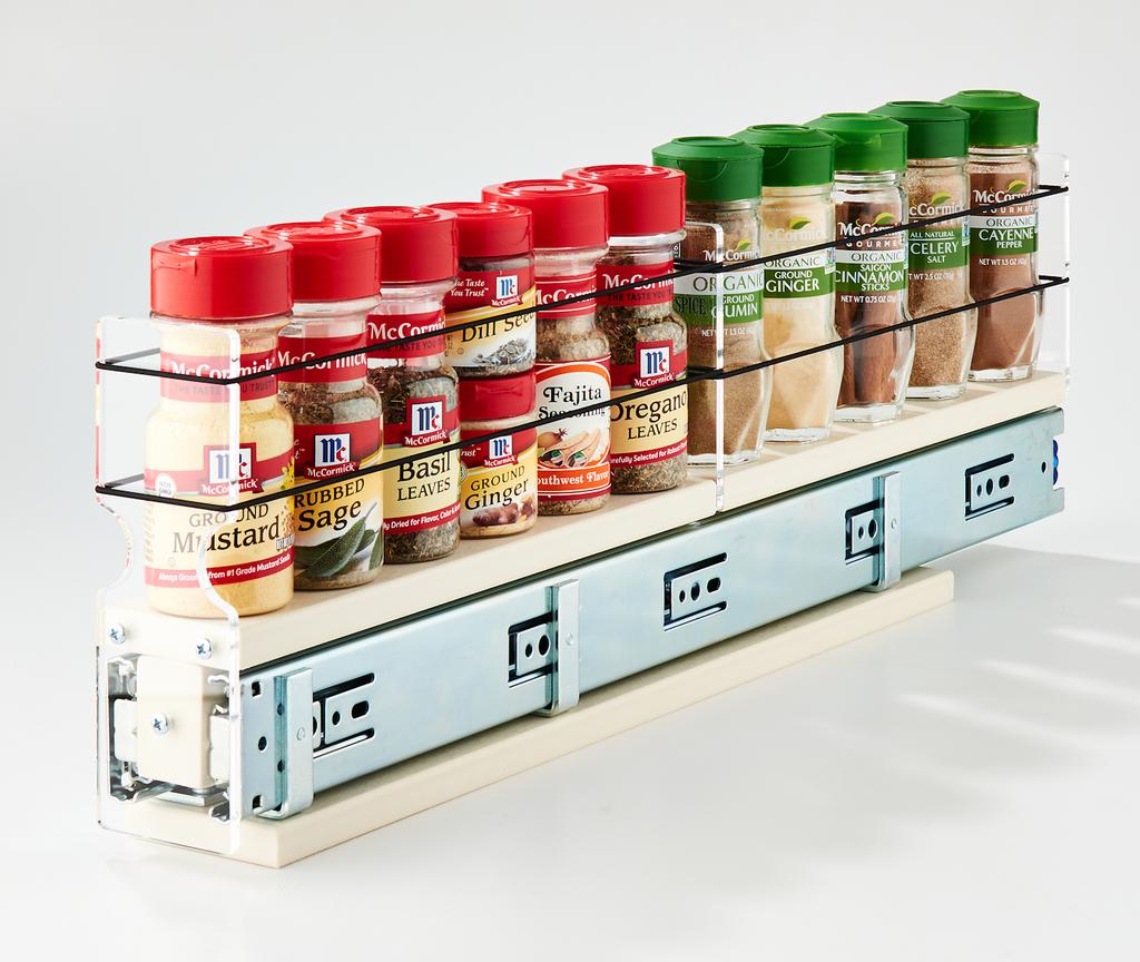 2x1x22 Spice Rack Drawer Cream - Store Spices