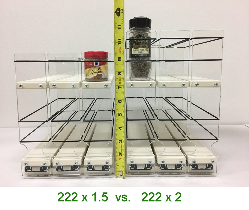 Spice Rack 22 x 1.5 x 11, Maple - Compare to 222x2x11