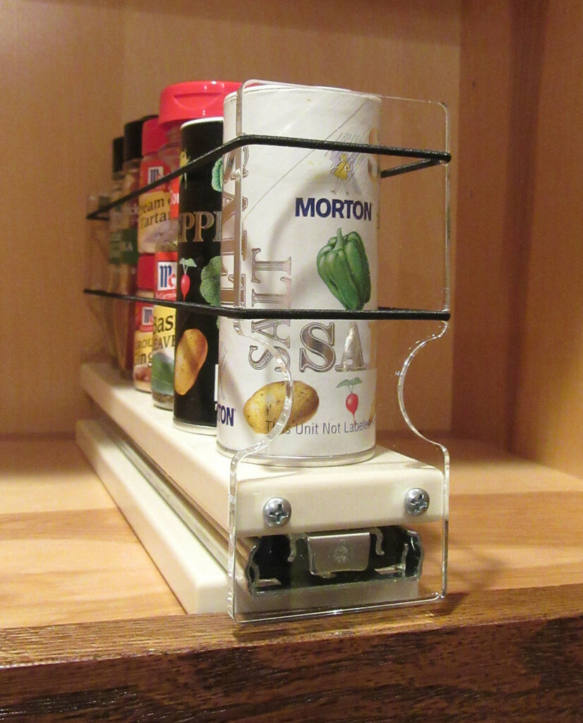 Spice Rack 2x1x11, Cream - Access your spices from a small space