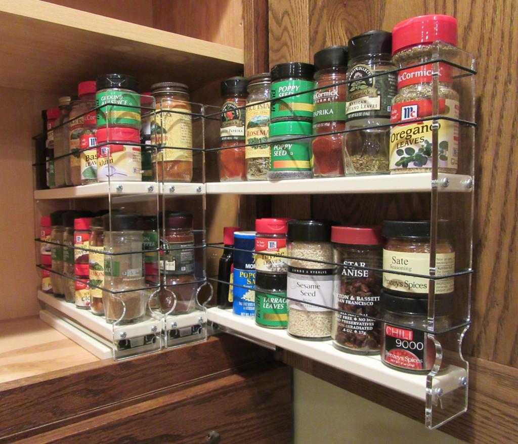 222x2x11 Spice Rack Cream Vertical Spice Rack Cabinet Organizer