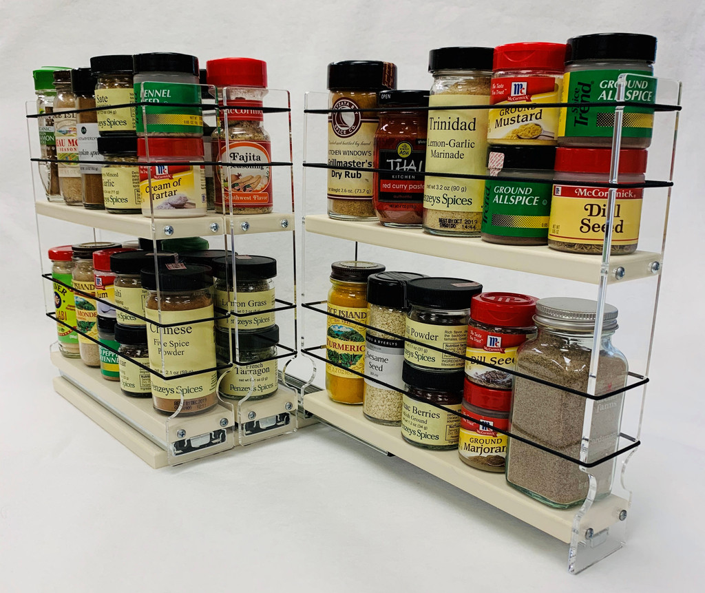 222x2x11 Spice Rack Cream Cabinet Spice Organizer