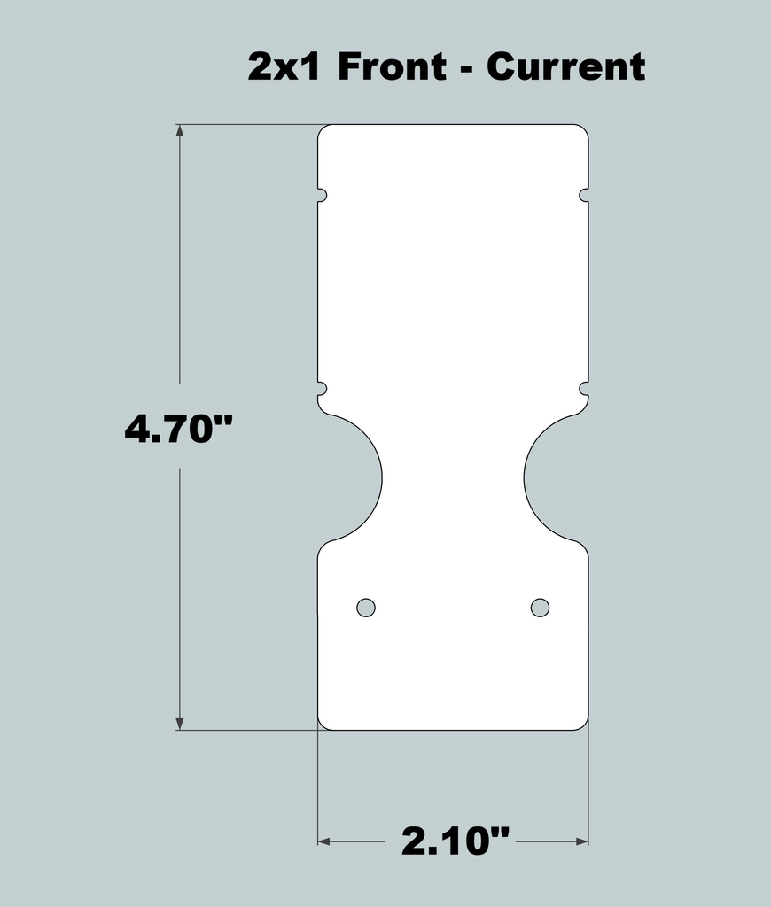 2x1x11 Replacement Front - New/Current
