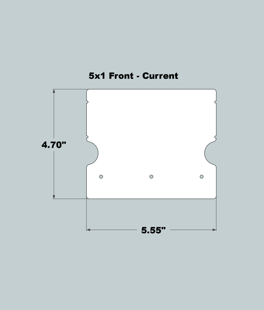 5x1x11 Replacement Front - New/Current