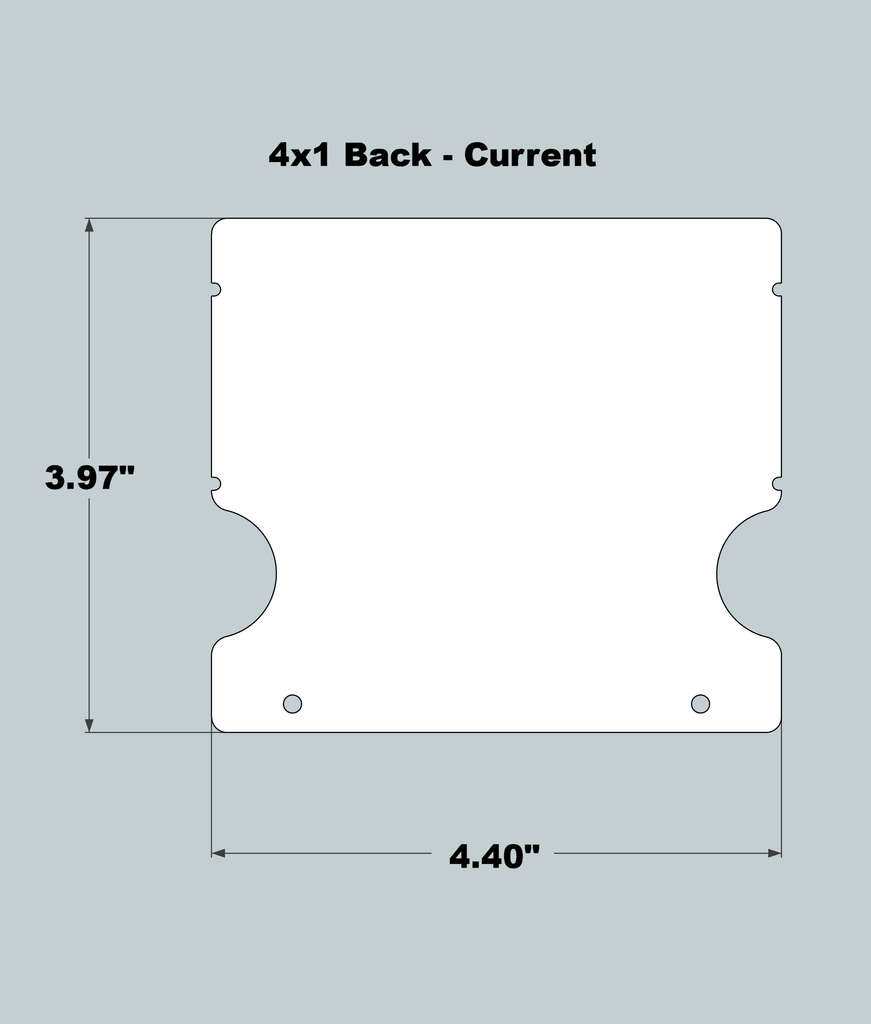 4x1x11 Replacement Back - New/Current