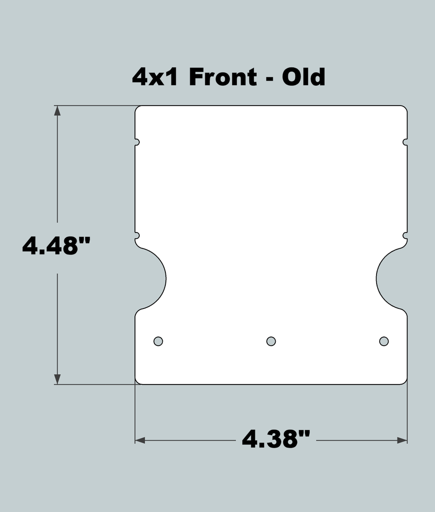 4x1x11 Replacement Front - OLD Base Design