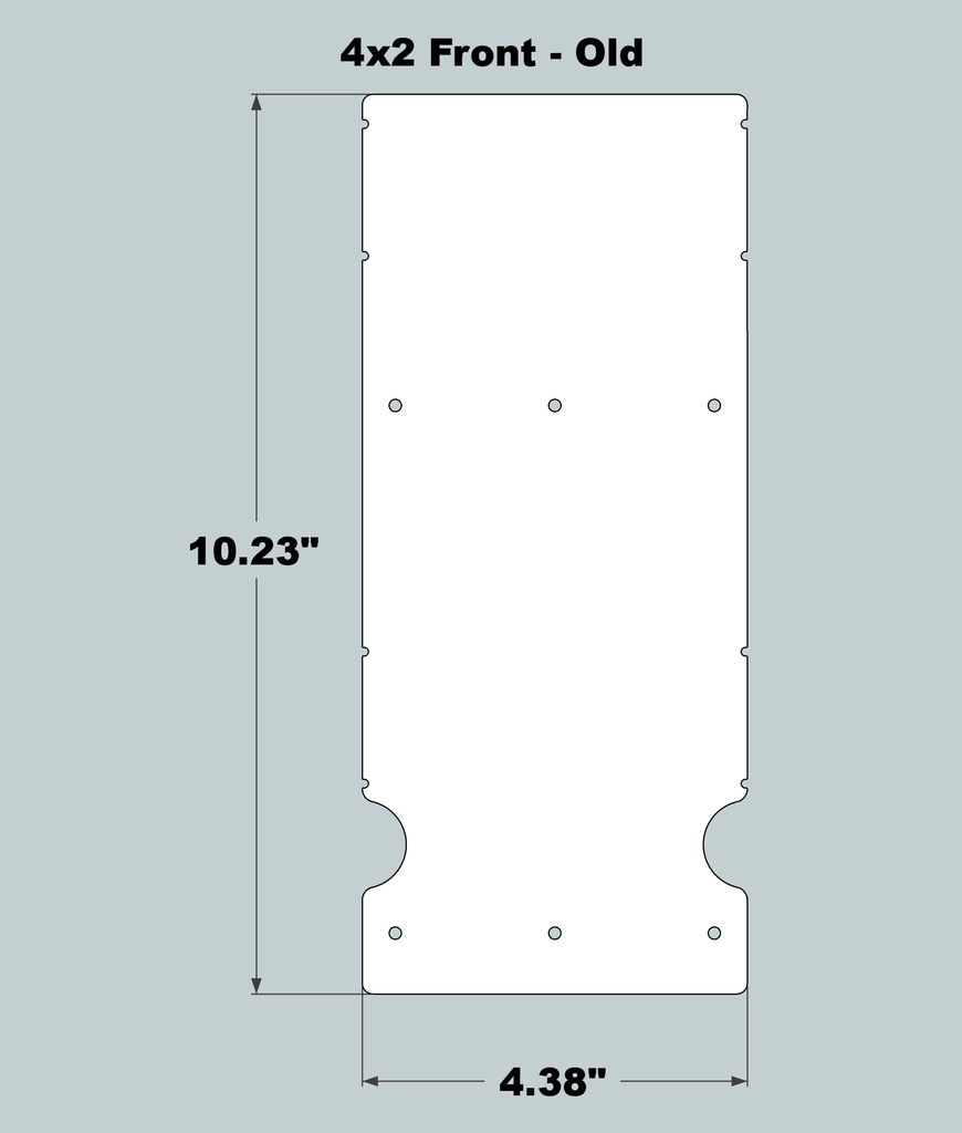 4x2x11 Replacement Front - OLD Base Design