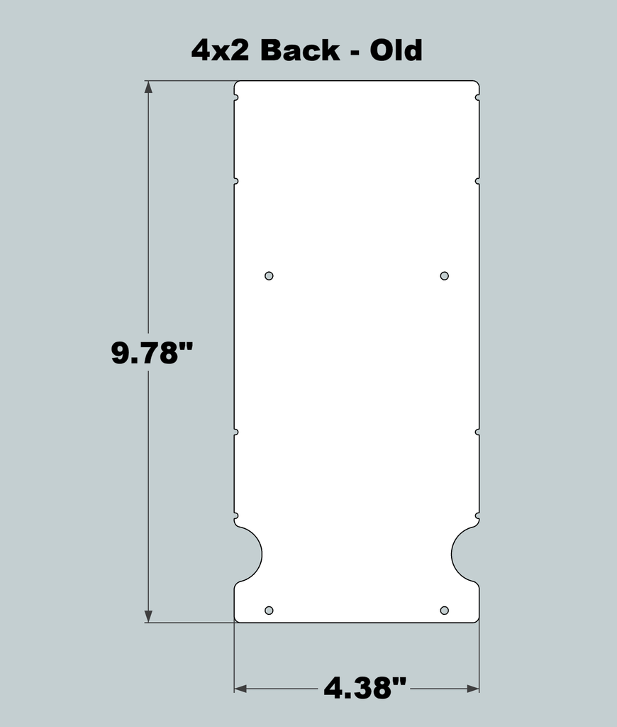 4x2x11 Replacement Back - OLD Base Design