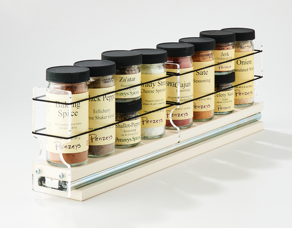 2x1x18 Spice Rack Drawer Cream - Organizes 8 Spice Jars in a Compact Space