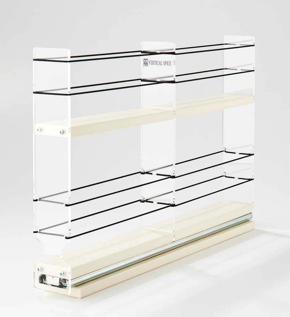 2x1x18 Spice Rack Drawer Cream - Kitchen, Bath, Pantry, Anywhere You Have Hard To Reach Spaces
