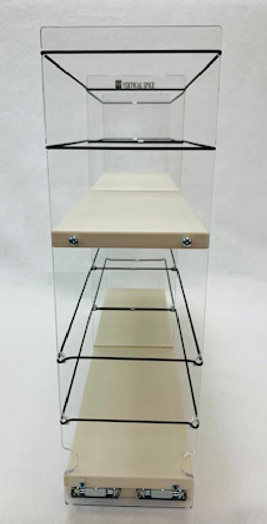 4 x 2 x 18 Storage Solution Drawer, Cream - Front View