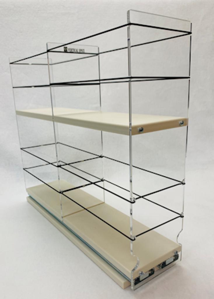 4 x 2 x 18 Storage Solution Drawer Cream - 2 Tiers of Cabinet Storage