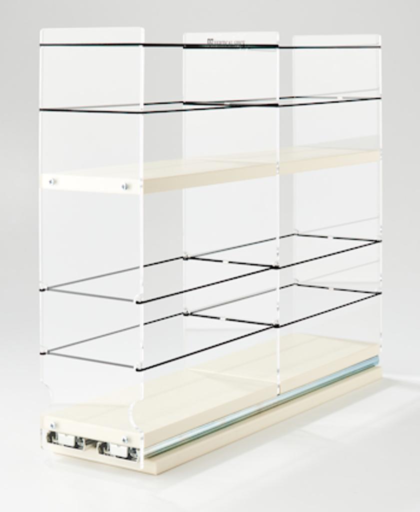 4 x 2 x 18 Storage Solution Drawer Cream