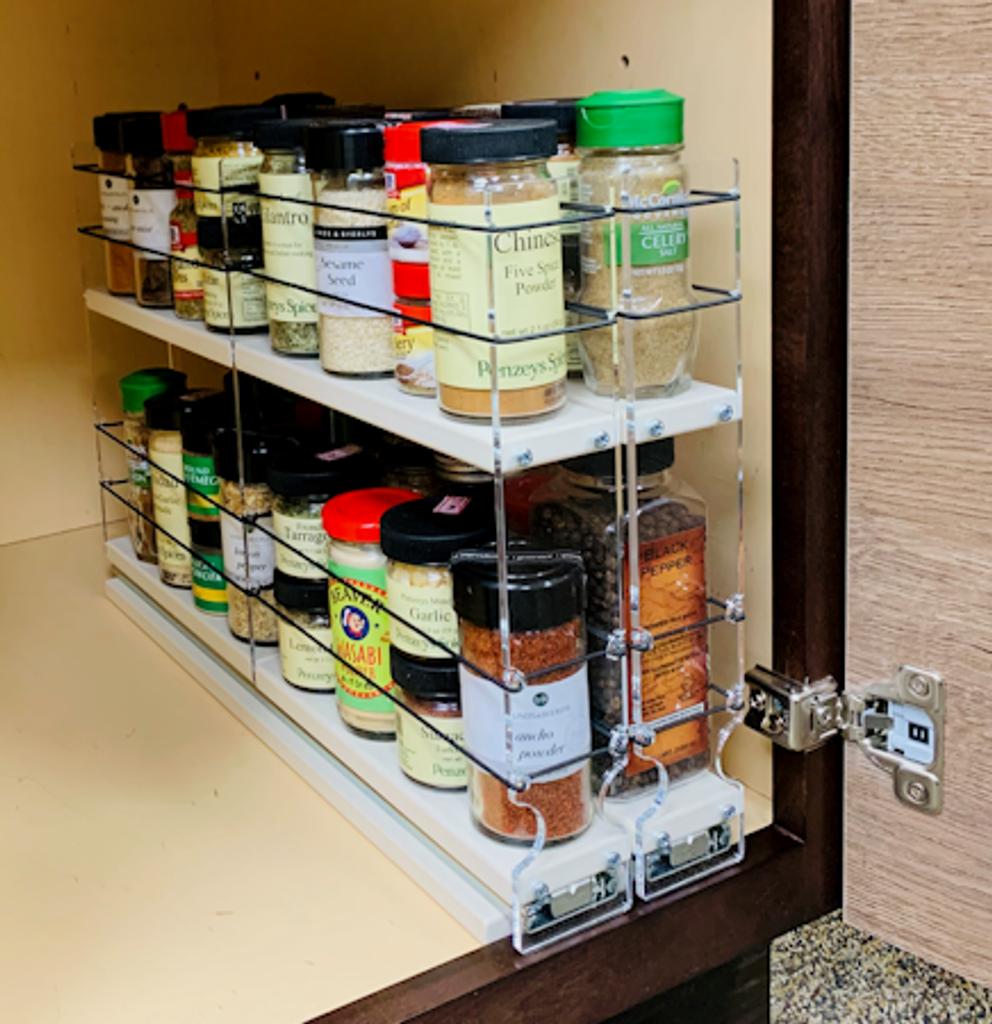 22x2x18 Spice Rack - Holds 32 Standard Spice Jars