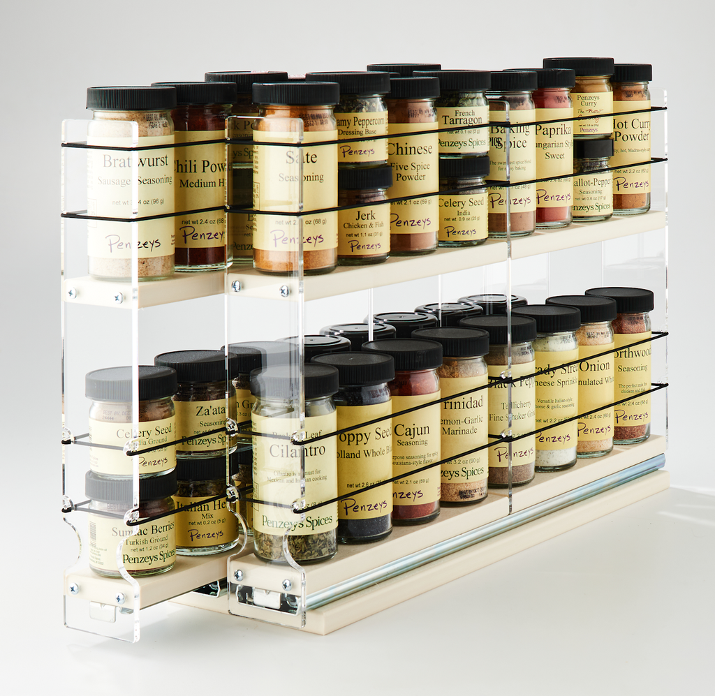 22x2x18 Spice Rack Drawers Cream - 2 Independent Drawers