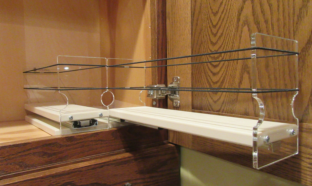 Spice Rack 33x1x11, Cream Empty Drawer Out