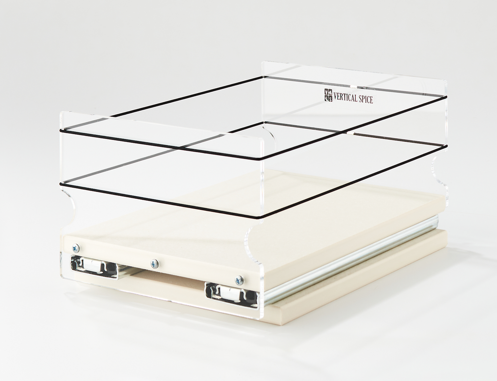 6x1x11 Storage Solution Drawer Cream
