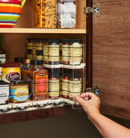 Organized Cabinet with x11 Depth Vertical Spice Drawers