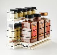 23x1.5x11 Spice Rack Combo Drawers Cream - 2 Individual Drawers