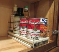 5x1x11 Spice Rack, Cream - Full drawer in