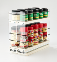 22x1.5x11 Spice Rack Cream Store a Vsriety of Spices