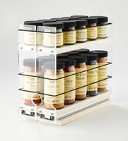 "22x1.5x11 Spice Rack Cream Unit: 4.6"" wide x 9.25"" tall x 10.6"" depth Drawers: (2) 2.1"" wide x 10.05"" long"