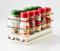 22x1x11 Spice Rack Cream - Store a Variety of Spices and Find them Easily