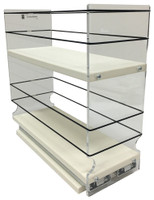 "Spice Rack 4 x 2 x 11, Cream Unit: 4.6"" wide x 10.75"" tall x 10.6"" depth Drawers: (1) 4.4"" wide x 10.05"" long"