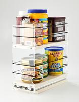 4x2x11 Storage Solution Drawer Cream - 2 Tiers of Storage Space