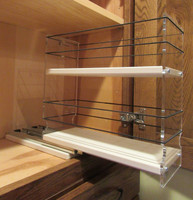 Spice Rack 4 x 2 x 11, Cream - Drawer Part Way Out