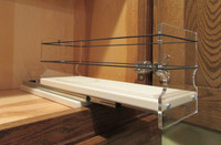 Spice Rack 4 x 1 x 11, Cream - Drawer Out