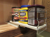 Spice Rack 4 x 1 x 11, Cream - Loaded drawer out