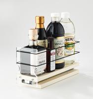 3x1x11 Spice Rack Cream - Versatile Cabinet Storage, Access and Organization