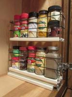 Spice Rack 2x2x11, Cream - Compact Spice Storage