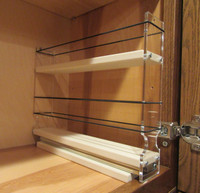 Spice Rack 2x1.5x11, Cream - Ready for spices - Full Cabinet Utilization