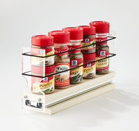 2x1x11 Spice Rack Drawer Cream Access Full Cabinet Depth Without Reaching
