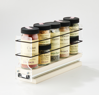 2x1x11 Spice Rack Drawer Cream Holds 5 Spice Jars