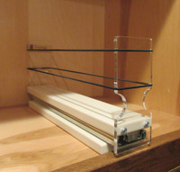 Spice Rack 2x1x11, Cream - In cabinet