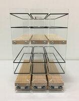 222x2x11 Spice Rack, Maple Easy to Install
