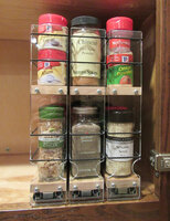 222x2x11 Spice Rack, Maple Front View