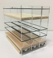 "222x1.5x11 Spice Rack, Maple Unit: 6.9"" wide x 9.25"" tall x 10.6"" depth Drawers: (3) 2.1"" wide x 10.05"" long"