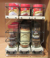 222x1.5x11 Spice Rack, Cream Shown - Front View
