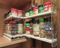 222x1.5x11 Spice Rack, Cream Shown - Full extension drawers