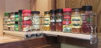 Spice Rack 222x1x11, Maple - Three full extension drtawers