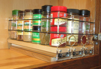 Spice Rack 222x1x11, Maple - Comapct Storage with Full Access