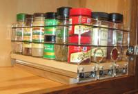 Spice Rack 222x1x11, Maple - Comapct Storage with Full Access